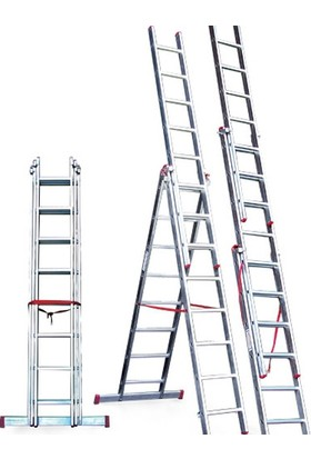 CÖMERT Merdiven A Tipi 3 Parçalı Sat 3 Mt.(Satm.11) (3*3+1=10 Mt)