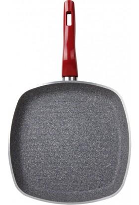 Karaca Red Silver Bio Granit 28 Cm Grill