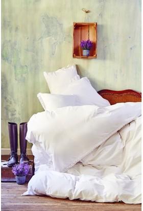 Karaca Home Provence Beyaz Çift Kişilik Nevresim Takımı