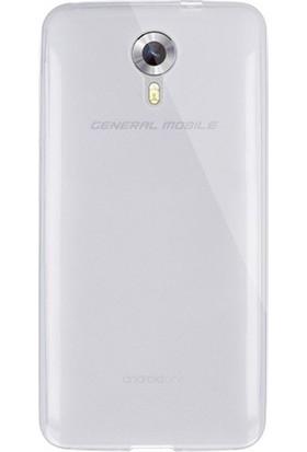 CaseUp General Mobile GM5 Kılıf, CaseUp İnce Şeffaf Silikon + Cam