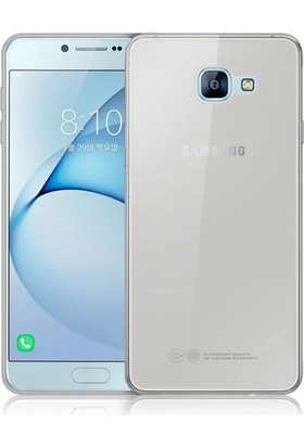 CaseUp Samsung Galaxy A8 2016 Kılıf, CaseUp İnce Şeffaf Silikon + Cam