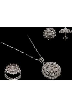 Akyüz Gümüş Bereket Modeli Telkari Gümüş Set Stt012