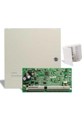 DSC PC 1616 Alarm Paneli + Küçük Metal Kabinet + PC 1555 RKZ Şifre Paneli