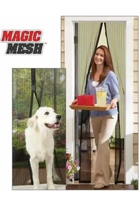 Hediye Paketim Mıknatıslı Kapı Sinekliği Magic Mesh (Kahverengi)