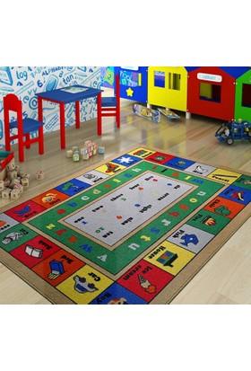 Confetti Lesson Çocuk Halısı - Mavi 100 x 150 cm