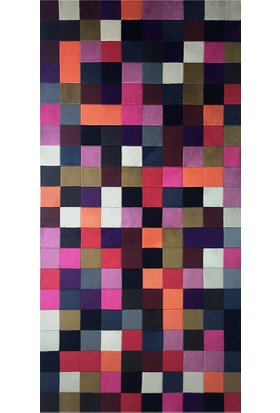Tappeto Pony Panel Post Halı - Multi Renkli 80x150 cm