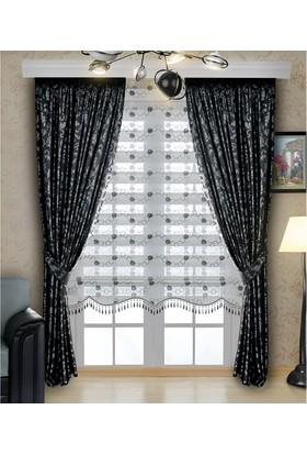 Homeyram Simli Brode Serisi Zebra - Siyah 100x200 cm