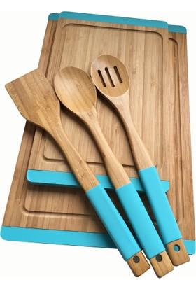 N2327 Sweet Bambu Turkuaz Mutfak Set