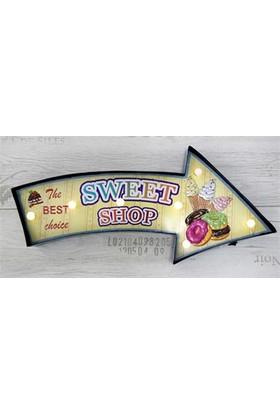 Gp Metal Ledli Sweet Shop