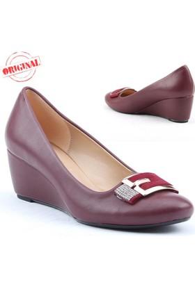 Myzenn 619 Bayan Dolgu Topuk Ayakkabı 5,5 cm Günlük Klasik