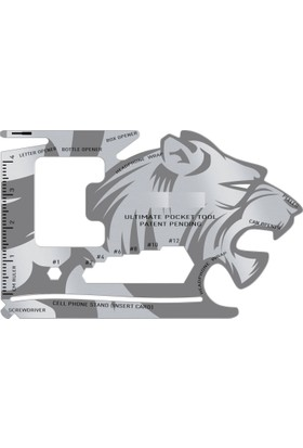 Aslan Tasarımlı Survival Kit (18 Fonksiyonlu)