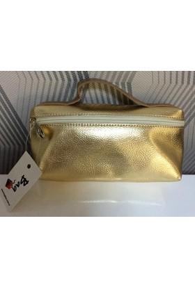 Bag Canta Mını Kulplu Gold