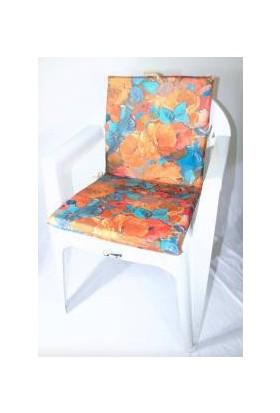 Deran Home 2Li Sandalye Minderi Kahverengi Çiçek 230