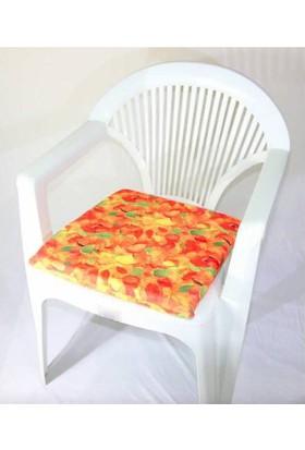 Deran Home 2Li Sandalye Minderi Yaprak Desenli 204