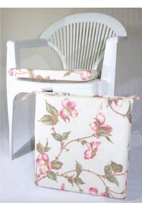 Deran Home 2Li Sandalye Minderi Yeşil Çiçek 202