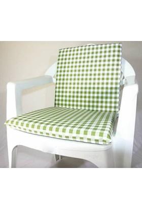 Deran Home 2Li Yeşil Kareli Sandalye Minderi 238