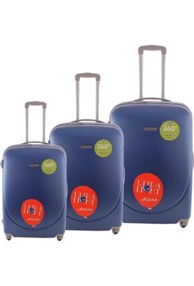 Laguna 2022 Mavi Valiz Bavul Seti