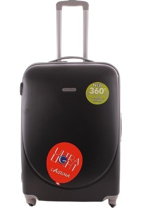 Laguna 2022-1 Pvc Siyah Orta Boy Valiz Bavul