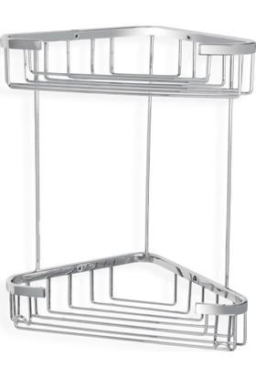 Çelik Banyo Efe İkili Kose Süngerlik 18X18 Cm