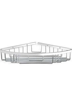 Çelik Banyo Zerrın Tekli Oval Süngerlik 22X22 Cm