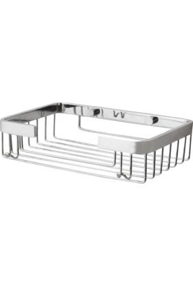 Çelik Banyo Tacı Tekli Kare Samp.22*15 Cm 15Mm Lama Vıda Başlıklı