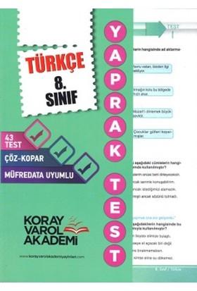 Koray Varol Yayınları 8. Sınıf Türkçe Yaprak Testi