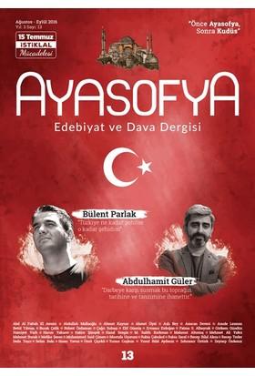 Ayasofya Dergisi Sayı 13 (15 Temmuz İstiklal Mücadelesi)