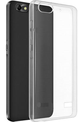 Microcase Lenovo Vibe C A2020 Ultra İnce Silikon Kılıf+Tempered Cam