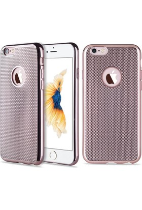 Microcase Apple iPhone 6 - 6S Lazer Kaplama Silikon Kılıf + Tempered Cam Koruma