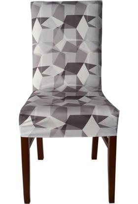 Akçağ Koltuk Örtüsü Likralı Desenli Sandalye Kılıfı Kristal 1