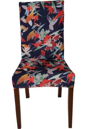 Akçağ Koltuk Örtüsü Likralı Desenli Sandalye Kılıfı Sarmaşık 1