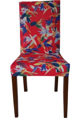 Akçağ Koltuk Örtüsü Likralı Desenli Sandalye Kılıfı Sarmaşık 3