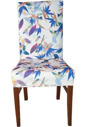 Akçağ Koltuk Örtüsü Likralı Desenli Sandalye Kılıfı Sarmaşık 4
