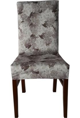Akçağ Koltuk Örtüsü Likralı Desenli Sandalye Kılıfı Aqua 1