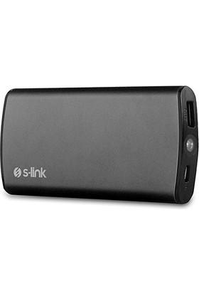 S-Lınk 8000Mah Ip-T80 5V 2.1Amper Microusb 2X Usb Mobil Şarj Kiti (Powerbank) Siyah