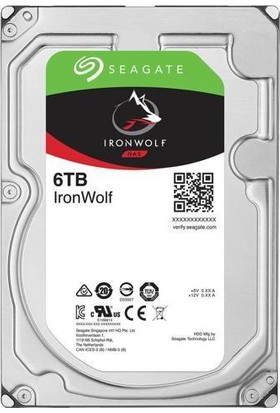 "Seagate IronWolf NAS HDD 6TB 3.5"" 7200RPM 128MB Cache Sata 3 Sabit Disk ST6000VN0041"