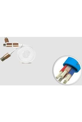 Kualit Üçü Birarada Usb Şarj Kablosu (Mıcro-Usb,Lıghtnıng,Type-C)