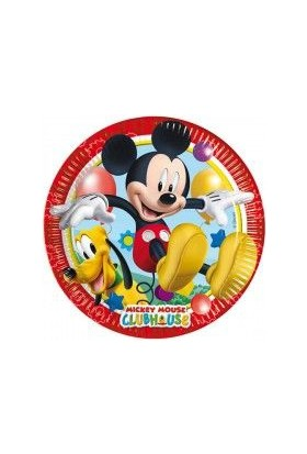 Partibahcesi Mickey Playful Kağıt Tabak 8'Li 23X23Cm