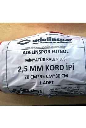adelinspor Minyatür Kale Filesi 75/90/60Cm 10*10 Göz 2,5 Mm Renkli İp