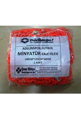 adelinspor Minyatür Kale Filesi 100/150/60Cm 10*10 Göz 2,5 Mm Renkli İp
