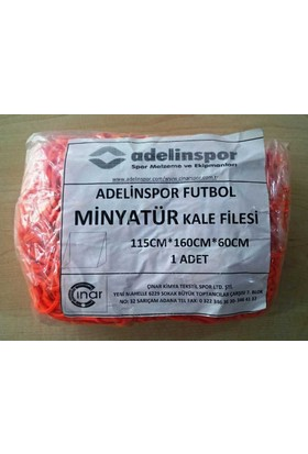 adelinspor Minyatür Kale Filesi 115/160/60Cm 10*10 Göz 2,5 Mm Renkli İp