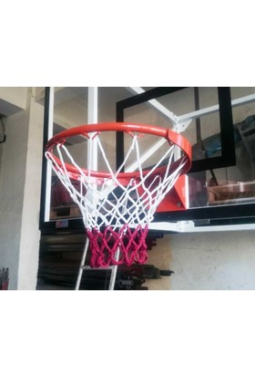 adelinspor Basketbol Çemberi 45 Cm Sabit, Kancalı 4 Mm Floş İp File