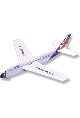 Lyonaeec Airbus A340 Lastik Fırlatmalı Model Uçak