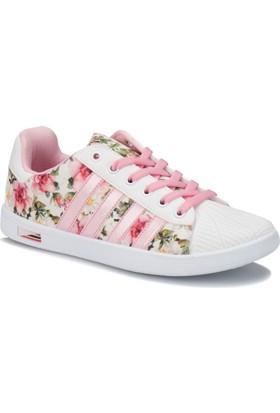 Kinetix Vulda F Beyaz Bej Pembe Kız Çocuk Sneaker Ayakkabı