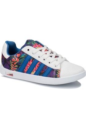 Kinetix Vulda F Beyaz Saks Yeşil Kız Çocuk Sneaker Ayakkabı