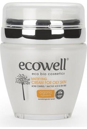 Ecowell Diamond Collection - Yağlı ve Akneye Meyilli Ciltler İçin Yüz Bakım Kremi 50 ml.