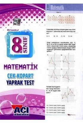 Açı Yayınları 8. Sınıf Matematik Çek Kopart Yaprak Test