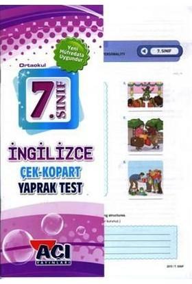Açı Yayınları 7. Sınıf İngilizce Çek Kopar Yaprak Test