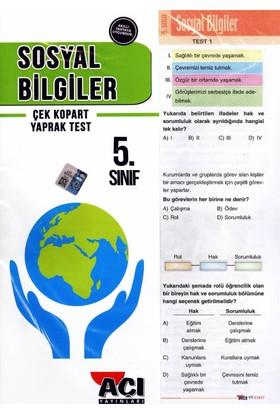 Açı Yayınları 5. Sınıf Sosyal Bilgiler Çek Kopart Yaprak Test