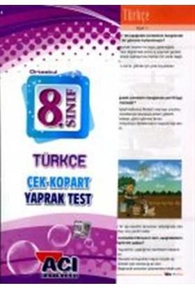 Açı Yayınları 8. Sınıf Türkçe Çek Kopart Yaprak Test
